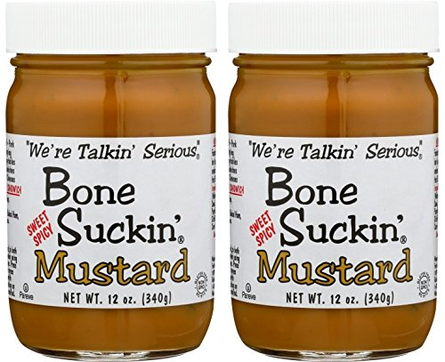 - Bone Suckin' Sweet Hot Mustard 12oz (Pack of 2)