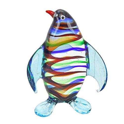 - GlassOfVenice Murano Glass Striped Penguin