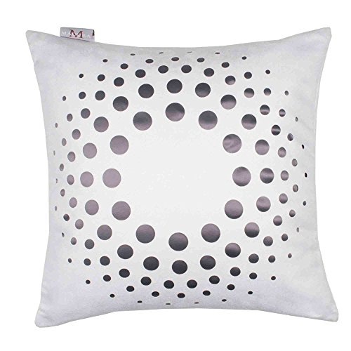 Madura Decorative Pillow - Throw Pillow cover Solar 16X16 White by Madura