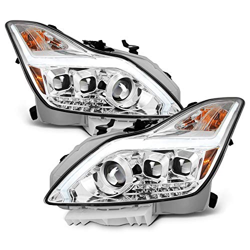 For 2008-2015 G37 / Q60 Coupe New Exclusive Clear LED Sequential LED Signal Tube Projector Headlights 08 Infiniti G37 Coupe