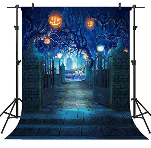 OUYIDA 5X7FT Halloween Theme Seamless Pictorial Cloth Customized Photography Backdrop Background Studio Prop TP263