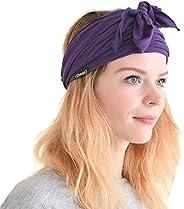 CHARM Mens Kundalini Headwrap Scarf Headband - Tied Headbands For Women Japanese Pirate Head Wrap