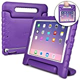 COOPER DYNAMO Shock Proof Kids case compatible with iPad Air 1 | Heavy Duty Kidproof Cover for Kids | Girls Boys School | Kid Friendly Handle Stand, Screen Protector | Apple A1474 A1475 A1476 (Purple)