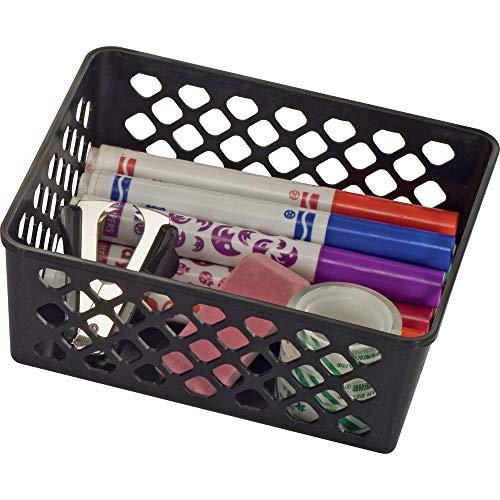 Officemate International Corp. 26201 Supply Basket, Stackable, Medium, 3/PK, Black - Officemate International Corp Supply