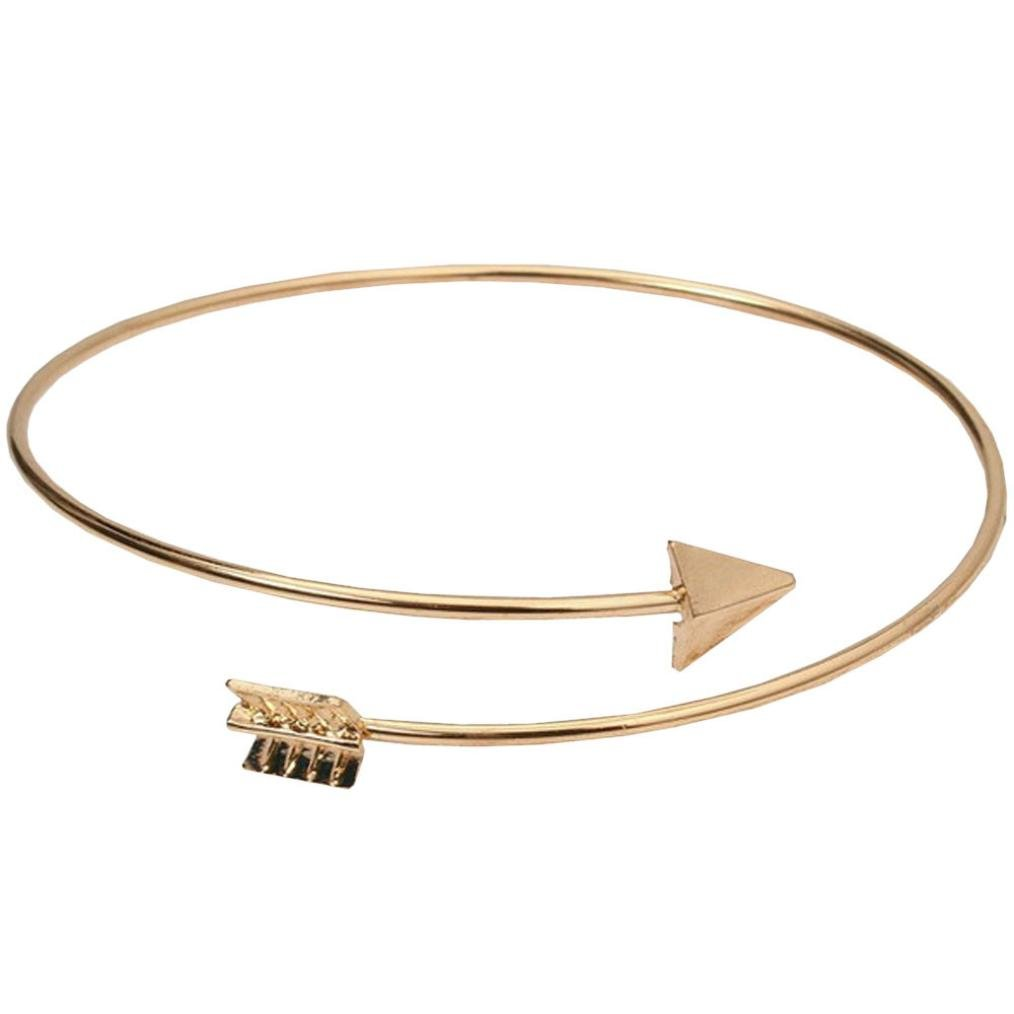 Molyveva Greek Roman Cupid's Arrow Bracelet Armband Upper Arm Cuff Armlet Bangle (Gold)