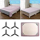 Rareccy Bed Sheet Holder Straps, Adjustable Bed