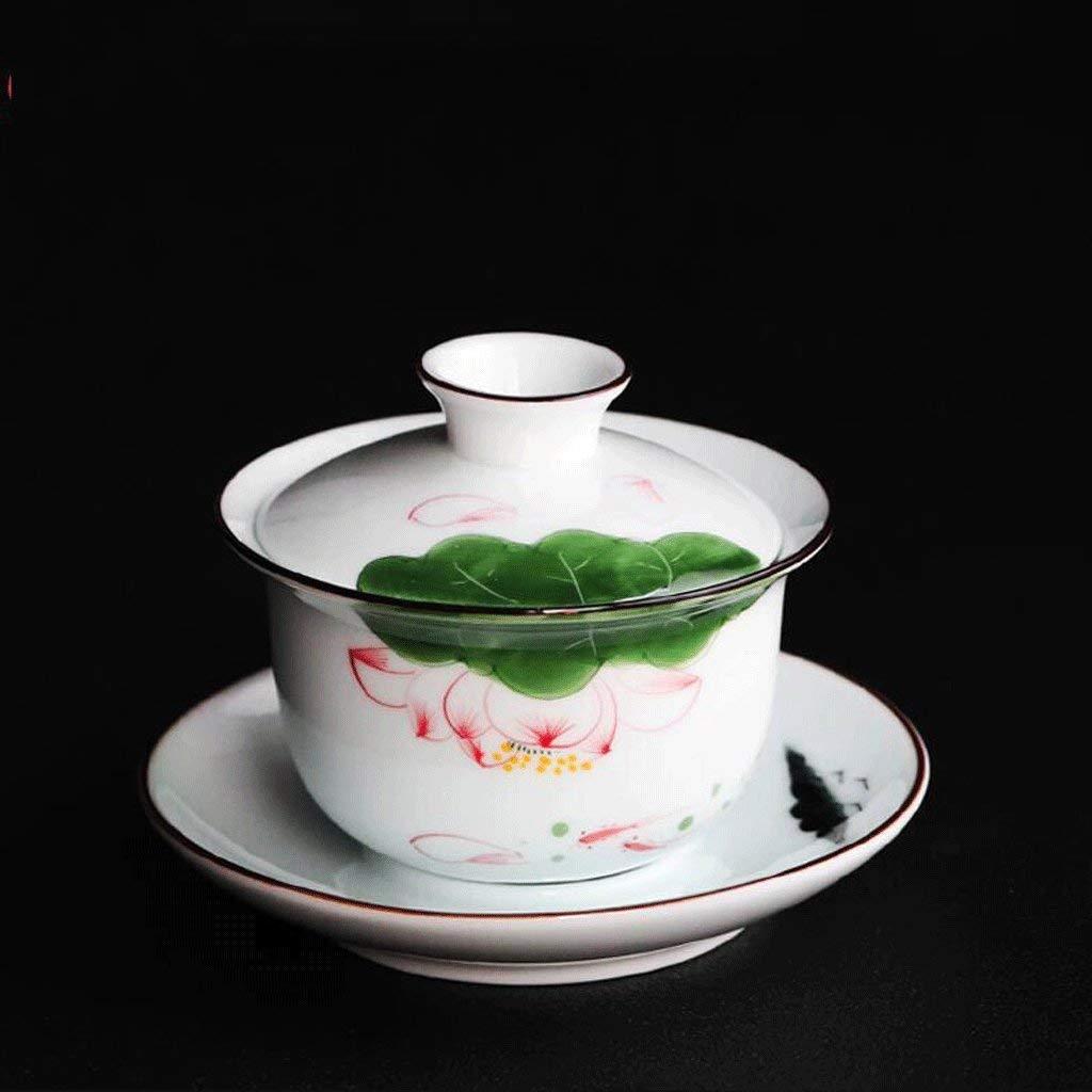 Exquisite Tea Cups Saucers Set Set Coffee Cup with Cover Tea Cup Tea Bowl Hand Painted Ceramics Teacup Small Capacity Manual Make Tea Cup Tea Set 150ML by Kinue