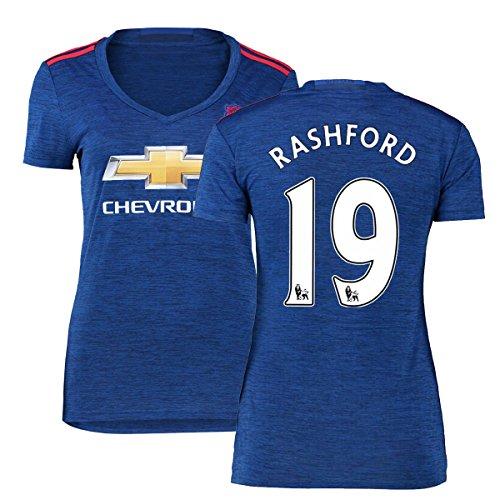 FC Football Jersey Manchester United Soccer Jersey Away Shirt 2016-17 Womens #19 Rashford Blue S