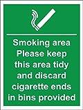 Smoking Area Cigarette Bins Provided 200 X 150Mm Sa