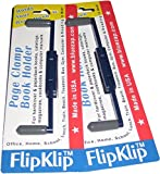 FlipKlip Book Holder 2-Pak for Knitting, Crochet or Needlework