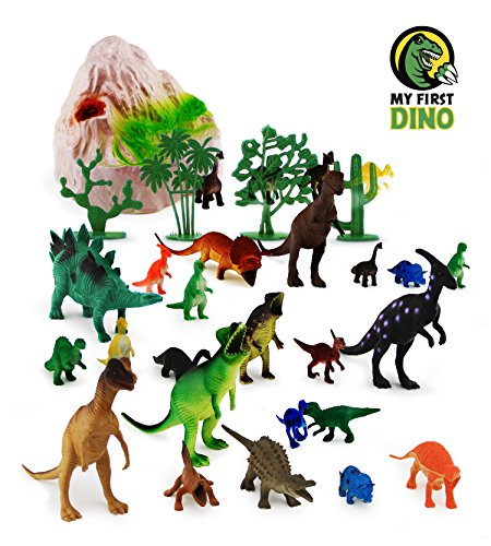 Dinosaur Toys Set, 31-Pieces. Educational Dinosaur Toys Pack