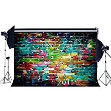 7X5FT/210X150cm Color Brick Wall Thin Vinyl Seamless Photo Backdrops Customized Studio Background Studio Props For Studio/Party/ Decorations ZQ41