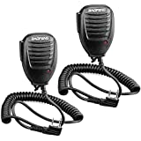 Walkie Talkie Handheld Speaker Mic, Shoulder Microphone for BaoFeng UV-5R 5RA 5RB 5RC 5RD 5RE 5REPLUS 3R+ Two Way Radio Accessories (2 Pack)