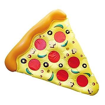 Eurowebb Colchón Flotador Hinchable Pizza – Flotador Part de Pizza para la Mar y la Piscina