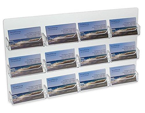 Source One 12 Pocket Wall Mount Business Card Holder - 2 Piece Set