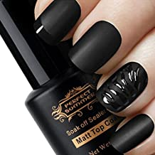 Perfect Summer 8ml Matte Finished Clear Top Coat UV/Led Soak Off Gel Nails Polishes Salon Nails Artistic French Manicure Art