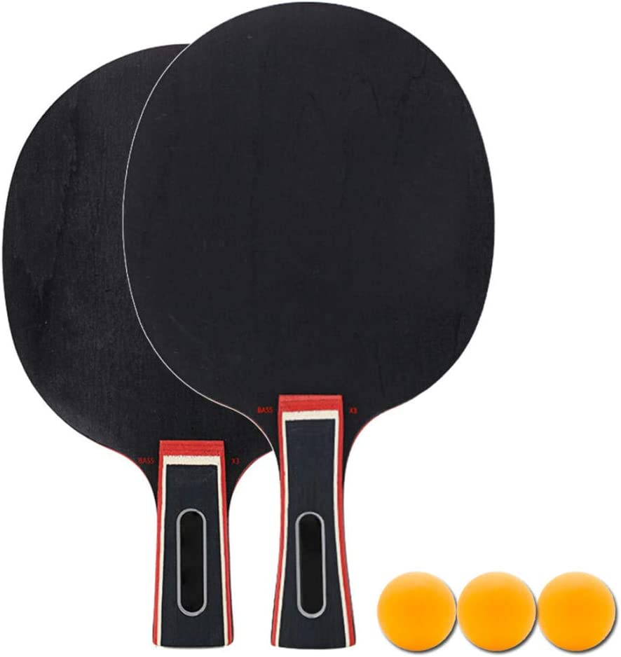 N/A Maleta De Competición: Juego De Paletas De Ping Pong Incluye 2 Paletas De Tenis De Mesa Aprobadas por La Ittf Y 3 Pelotas De Ping Pong De Torneo