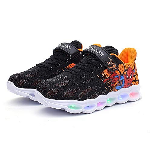 Spider Man Light up Breathable Bottom Sneakers