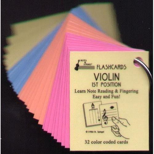 Mini Laminated Violin Flash Cards product image
