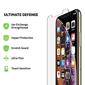 Belkin ScreenForce InvisiGlass Ultra Screen Protection for iPhone Xs/X – iPhone Xs Screen Protector, iPhone X Screen Protector from Belkin Inc.