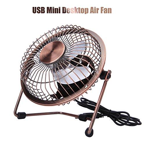Fan Mini Desk Personal USB Desktop Powerful Airflow for Home Office Color : Black
