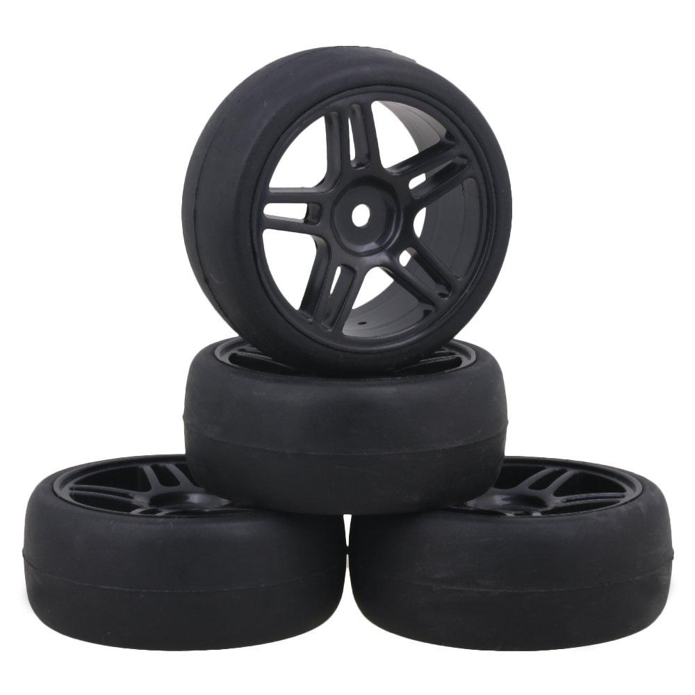 Amazon com: Mxfans Black Plastic Star Pattern Wheel