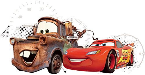 - 16 Inch Lightning McQueen Tow Mater Wall Decal Sticker 95 Disney Pixar Cars 3 Movie Removable Peel Self Stick Adhesive Vinyl Decorative Art Room Home Decor Kids Room Racing Decor 16 1/2 by 9 inches