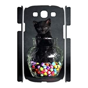 Hjqi - DIY Tabby Cat 3D Cover Case, Tabby Cat Customized Case for Samsung Galaxy S3 I9300