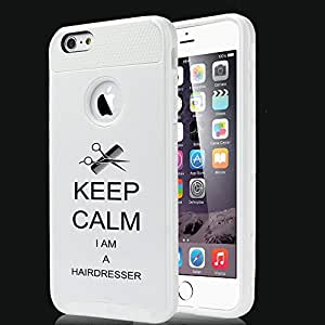 Apple iPhone 5 5s Shockproof Impact Hard Case Cover Keep Calm I Am A Hairdresser (White)
