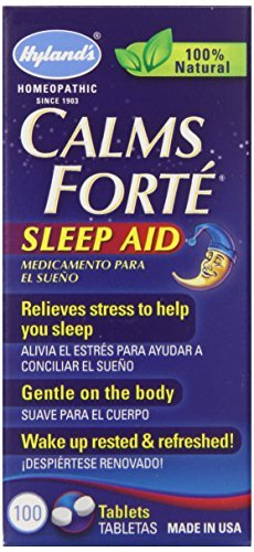 Hyland's Calms Forte Sleep Aid Tablets, Natural Stress Relief Medicine, 100 Count by Hyland's Homeopathic