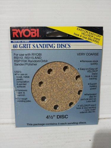 Ryobi 60 Grit Sanding Discs #4610060 41/2