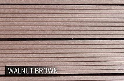 10 Pack Covers 10 Sqft Walnut Brown IncStores Century Outdoor LivingDIY Patio Deck Composite Interlocking Flooring Tiles