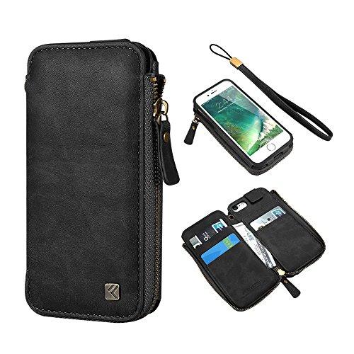 For Apple iPhone 7 PLUS Slim Wallet Cases, FLOVEME Vintag...