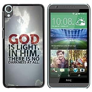 PC/Aluminum Funda Carcasa protectora para HTC Desire 820 BIBLE God Is Light / JUSTGO PHONE PROTECTOR