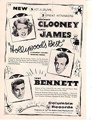 Rosemary Clooney Harry James Tony Bennett ad original clipping magazine photo 1pg 8x10 #Q5277
