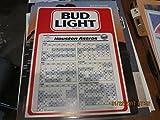 1985 Bud Light Houston Astros Baseball Schedule Sign thick em
