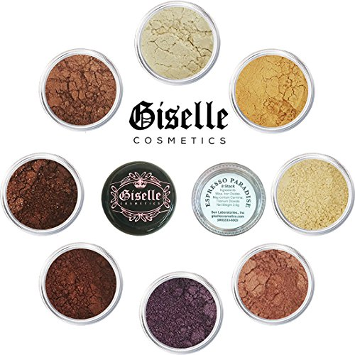 Eye Shadow - Mineral Makeup Eyeshadow Powder, Foundation, Concealer, Blush, and Contouring Palette | Pure, Non-Diluted Shimmer Mineral Make Up in 8 Espresso Hues and Shades | For All (Achieve Stackable)