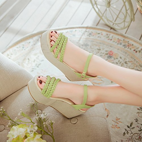 Zapatos Planas Coreano Verano de Zapatos Cu a de Gruesa Cresta Sandalias Tac ZHZNVX Hebilla UT6F1x