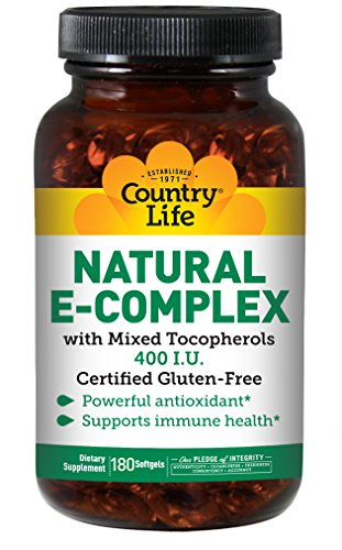 Country Life - Natural Vitamin E-Complex - 400 IU With Mixed Tocopherols - 180 (Country Life Natural Vitamin)