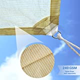 E&K Sunrise 4'x4' Sun Shade Sail-Beige Straight