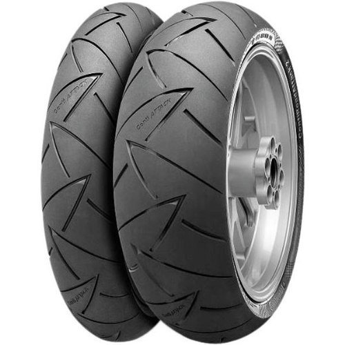 Continental Conti Sport Attack 2 Tire - Front - 120/60ZR-17 , Position: Front, Tire Size: 120/60-17, Rim Size: 17, Load Rating: 55, Speed Rating: (W), Tire Type: Street, Tire Construction: Radial, Tire Application: Race 02440070000