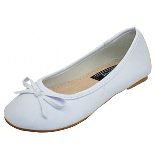 e3143fe2f681a Easy USA Girls Ballerina Ballet Flats White - Size 1