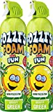 FOZZI's Bath Foam Aerosol for Kids, Groovy Green, Good Clean Fun, 600ml Each (Pack of 2)
