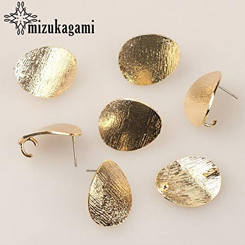 (Laliva Accessories - Zinc Alloy Golden Metal Oval Distorted Base Earrings Connector 6pcs/lot for DIY Earrings Jewelry Making Finding Accessories)