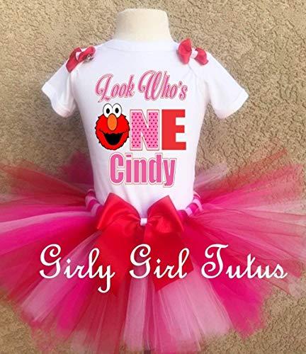Elmo Baby's 1st Birthday Outfit Tutu -