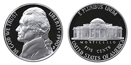 1990 S Proof Jefferson Nickel PF1