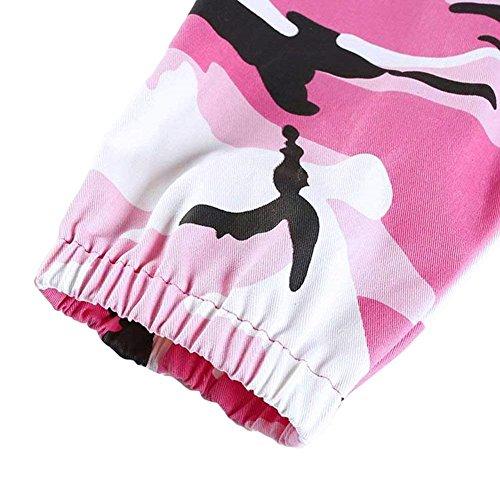 Unique Classiche Eleganti Militari Donne Pantaloni Tempo Autunno Libero Rosa Tuta Lunghe Donna Cargo Pantaloni Pantaloni Outdoor aOg7qR