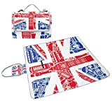 ALIREA Flag Of England Picnic Blanket Tote Handy - Best Reviews Guide