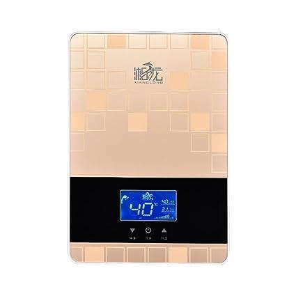 Calentador de agua eléctrico instantáneo termostático 7kw Kit de sistema de panel de ducha Calentador de