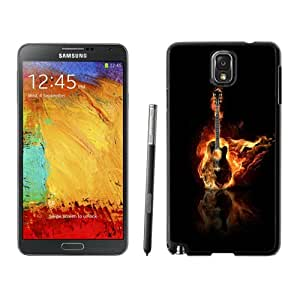 New Personalized Custom Designed For Samsung Galaxy Note 3 N900A N900V N900P N900T Phone Case For Burning Guitar Phone Case Cover